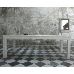 tavolo in legno sbiancato decapato