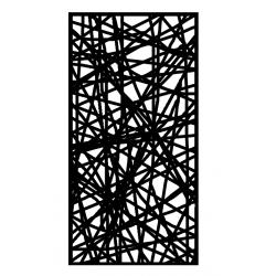 divisorio in metallo traforato con telaio in legno