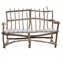Panchina in legno di mare e tessuto
